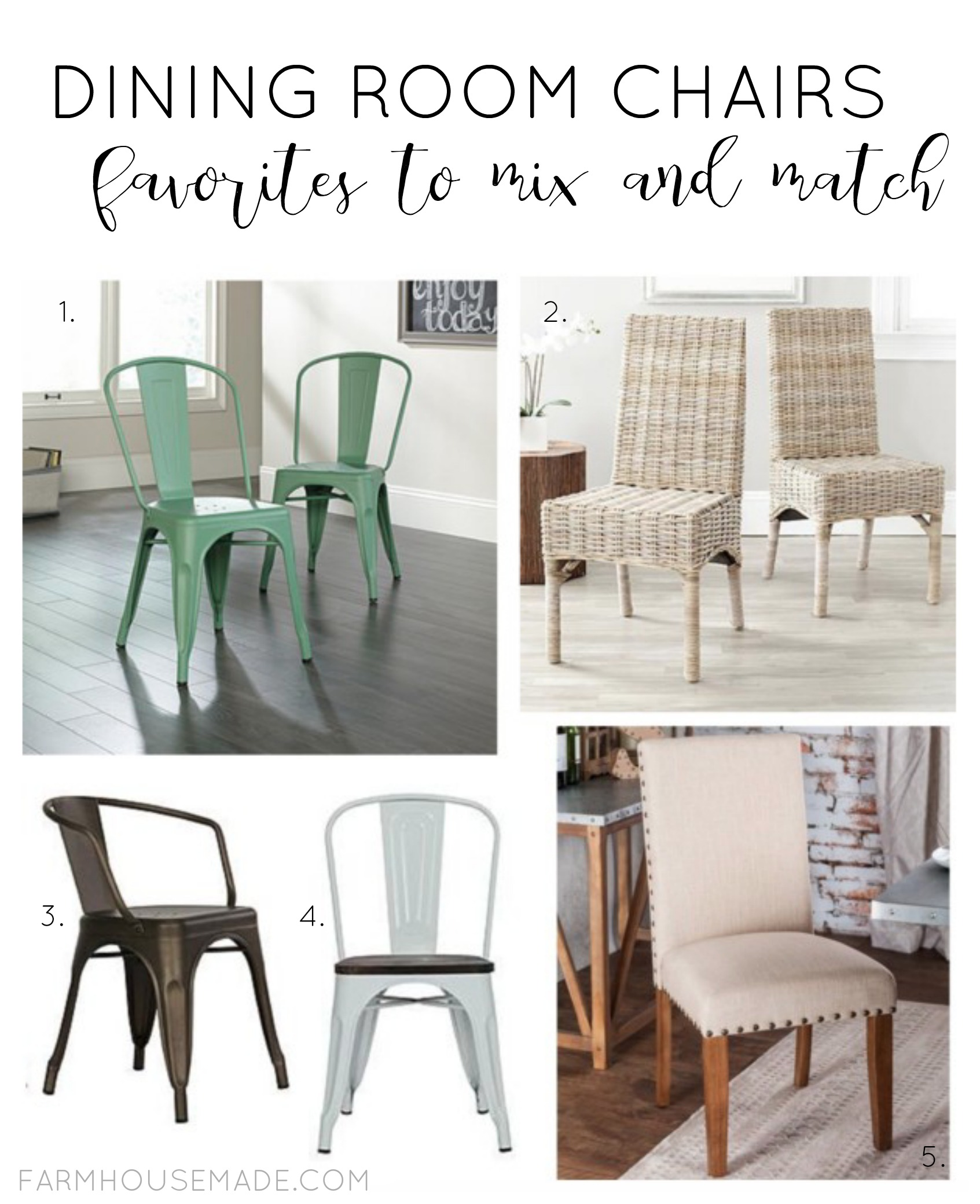 Mixing Dining Room Chairs Dining Room Chairs To Mix And Match F A R M H O U S E