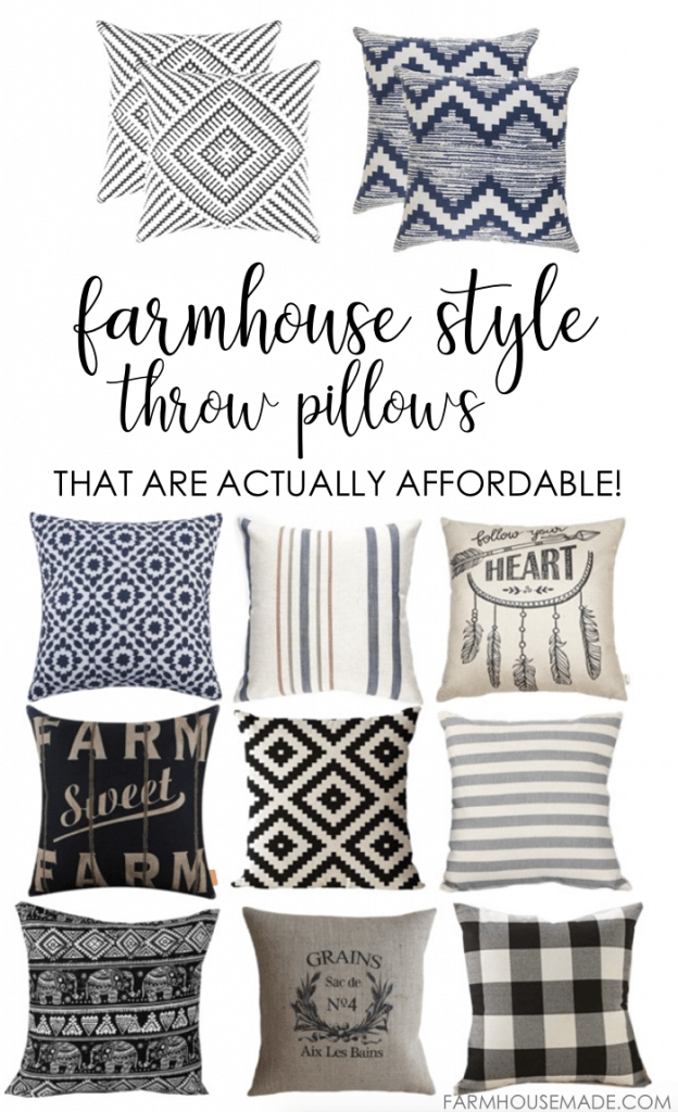 Sofa Sack Amazon Farmhouse Style Throw Pillows That Are Actually Affordable