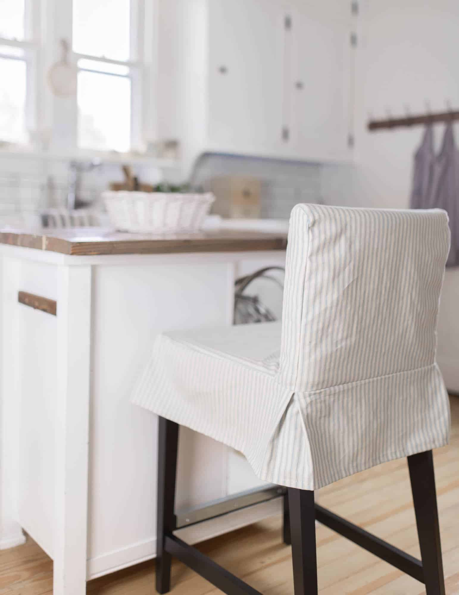 Dining Room Chair Patterns How To Sew A Parsons Chair Slipcover For The Ikea