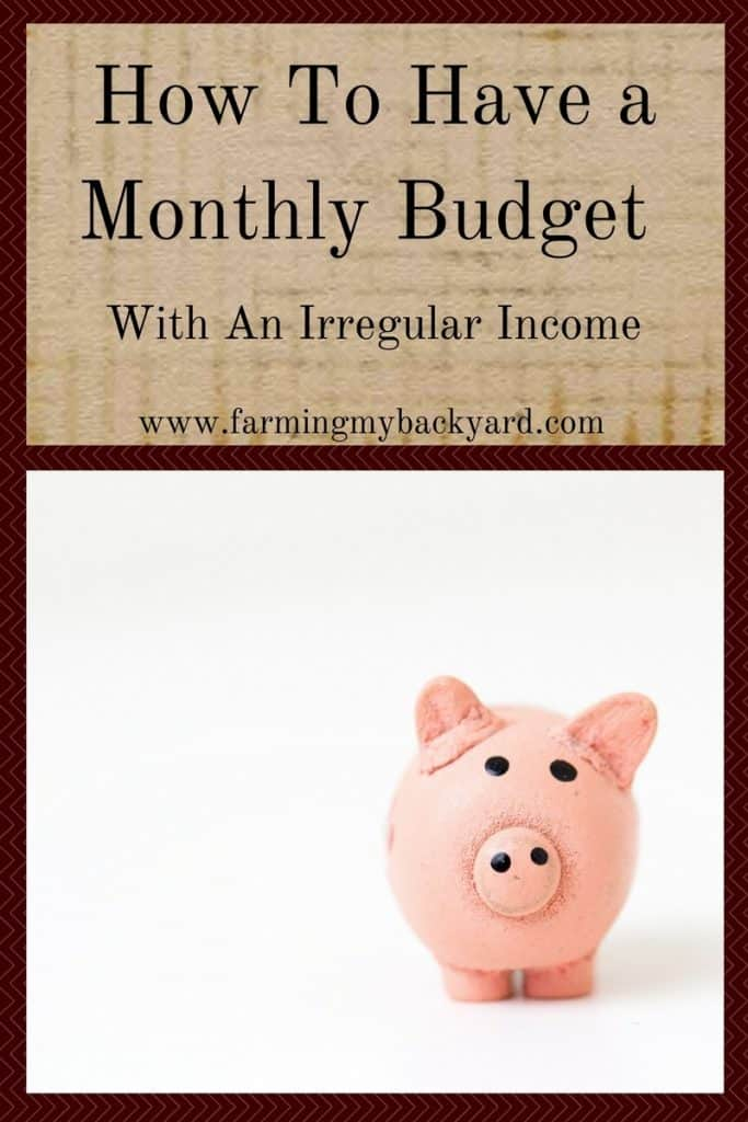 How To Have a Monthly Budget With An Irregular Income - Farming My