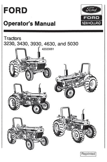 ford 4630 tractor ledningsdiagram