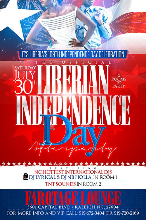 The Official Liberian Independence Day After Party \u2013 Farotage Nation - independence day flyer