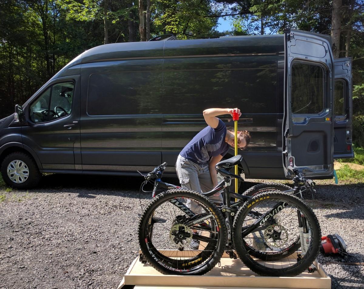 Ford Transit Camper Conversion >> Slide-Out Bike Rack   FarOutRide
