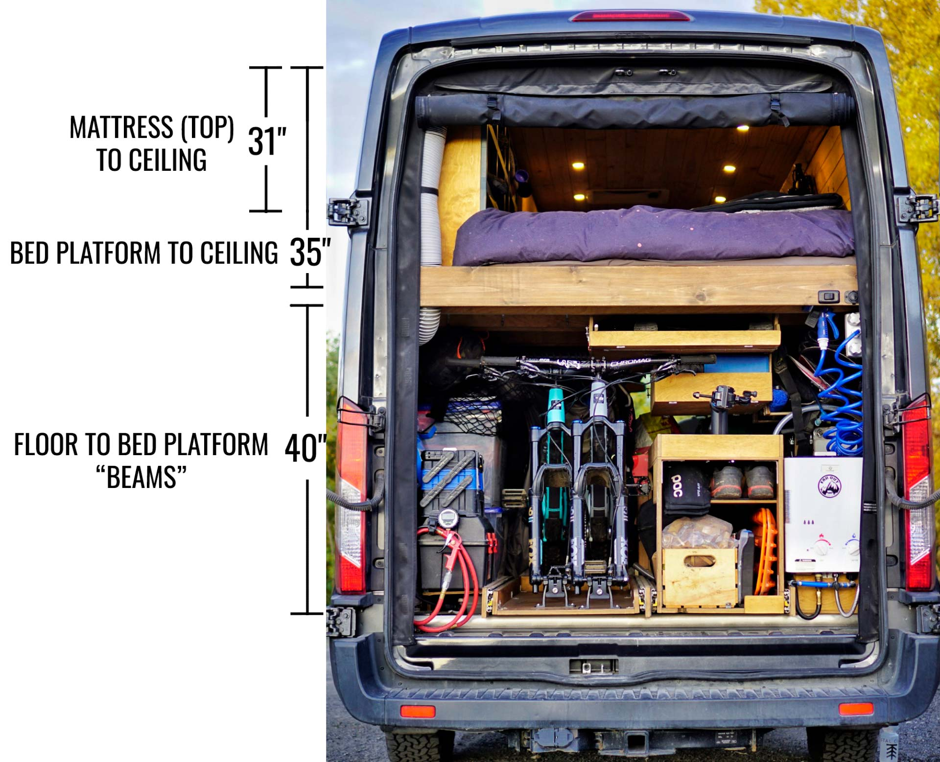 Slide Out Bike Rack Storage For Van How To Diy Build Faroutride