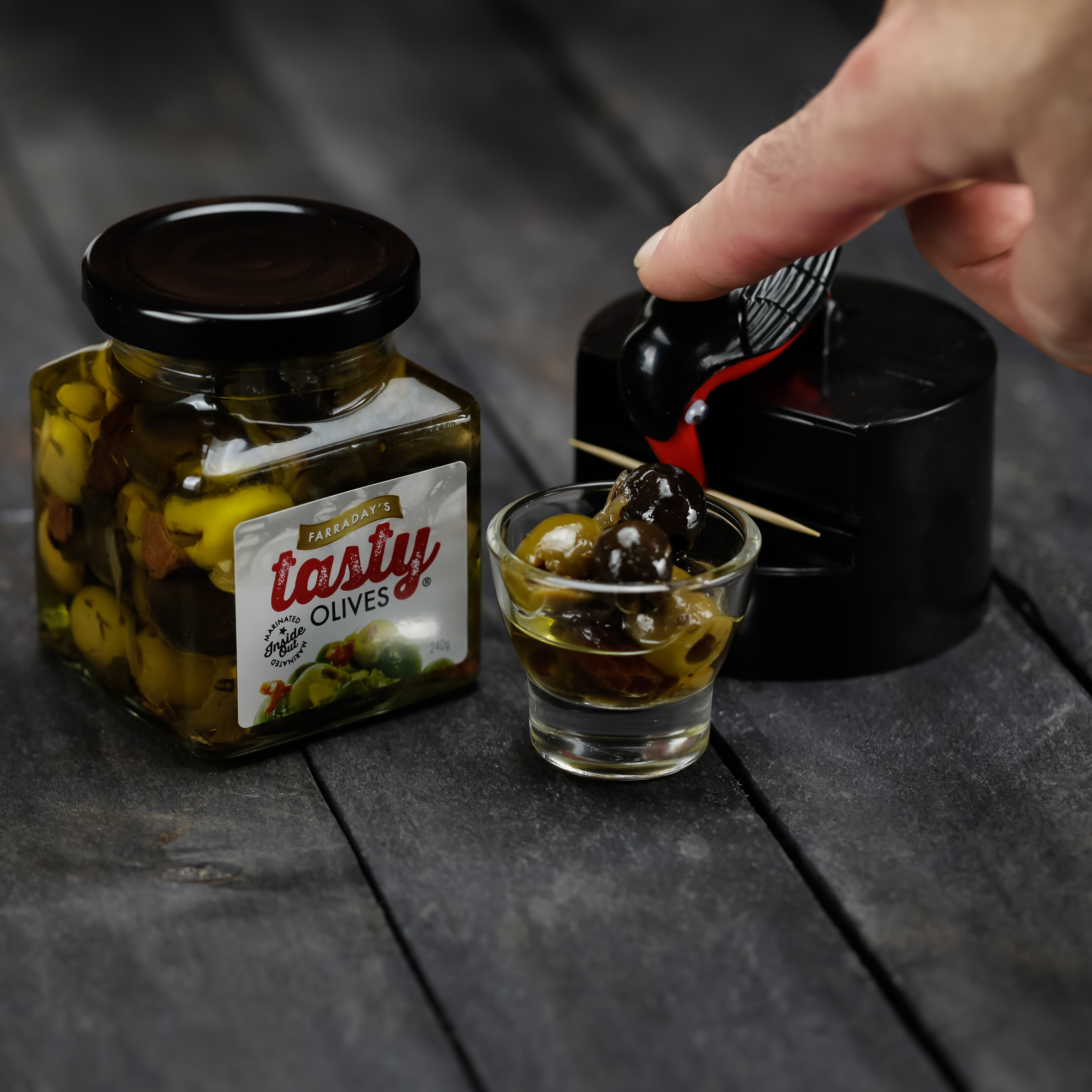 Novelty Toothpicks Tasty Olives And Bird Toothpick Dispenser Stay Tasty