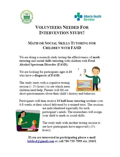 Math and Social Skills Intervention in the Edmonton Area FASD