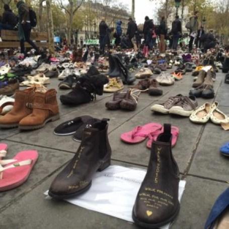 Milhares de sapatos ocupam lugar de manifestantes. (Foto: Foto: Avaaz)
