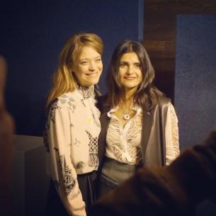 Schauspielerin Heike Makatsch und Designerin Leyla Piedayesh (Credit: Fashion-Meets-Media.com)