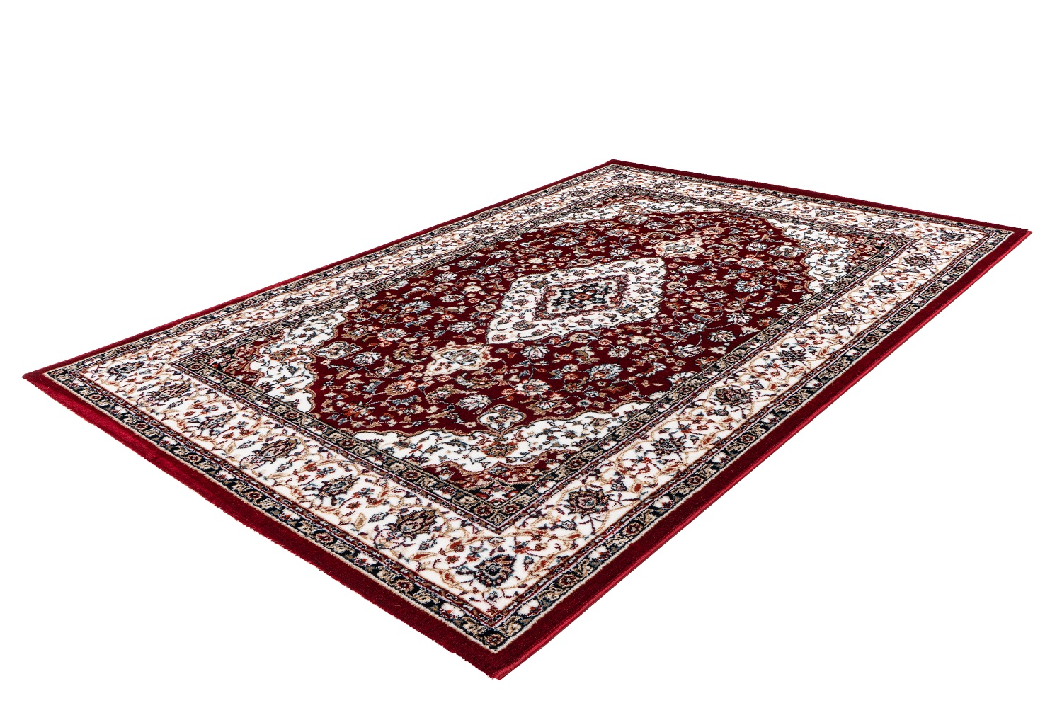 Kurzflor Designer Teppich Obsession Isfahan 740 Rot Raum