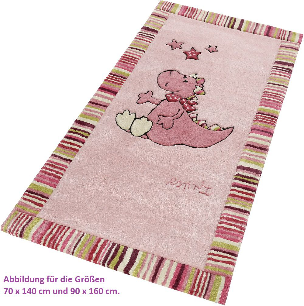 Kinder Teppich Esprit Sweet Dragon Esp 504 01 Pink Raum Quadrat Fashion Your Room Der - Teppich Kinderzimmer Esprit