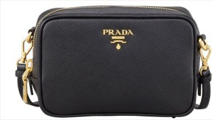 Saffiano Mini Zip Crossbody Bag (Prada)