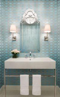 Powder Room Wallpaper Inspiration - Fashionable Hostess