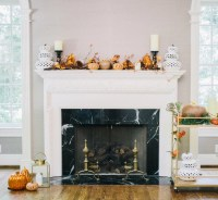 Decorate your Fireplace Mantel for Halloween - Fashionable ...
