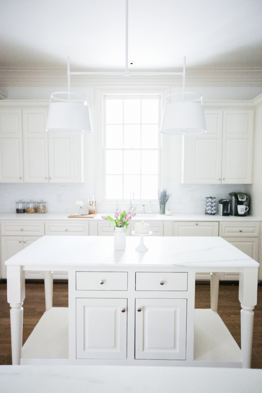 White Marble Island Nashville Kitchen Tour Fashionable Hostess