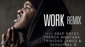 A$AP Ferg  Work (Remix) (Ft A$AP Rocky, French Montana, Trinidad James &#038; Schoolboy Q) [Video]
