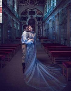 Reem Acra -Angelababy - HarpersBazaarChina