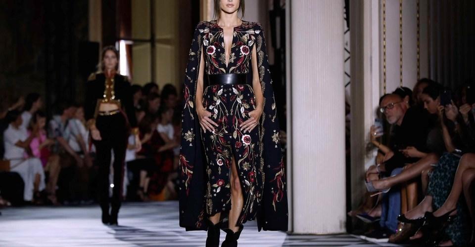 Supermodel Alessandra Ambrosio Opens For Zuhair Murad At Paris Haute Couture Fashion Week – Harpers Bazaar Arabia
