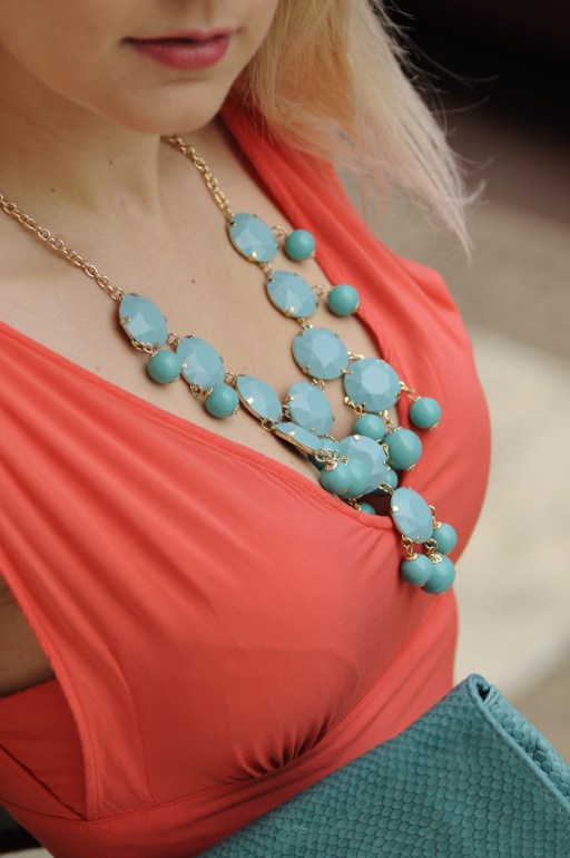 Sunset Red and Turquoise