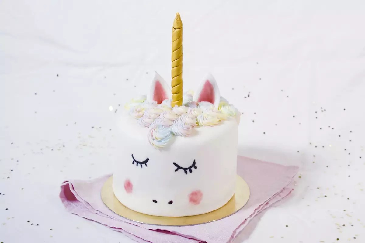 Decoration Gateau Pate Amande Gâteau Licorne