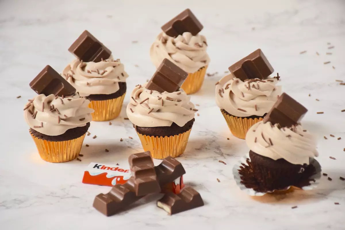 Muffins Kinder Country Cupcakes Chocolat Incroyable Ganache Montée Kinder