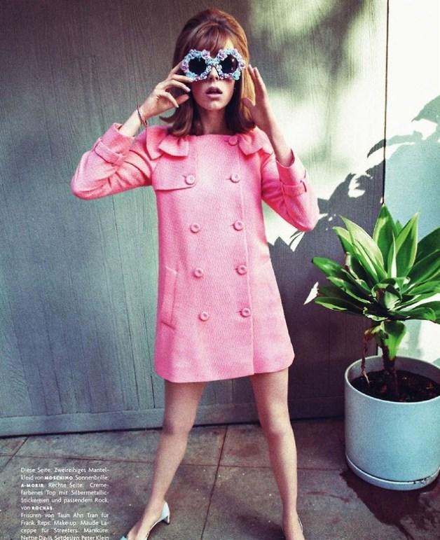 Edie Campbell in 'Zeitsprung' by Sebastian Kim Vogue Germany