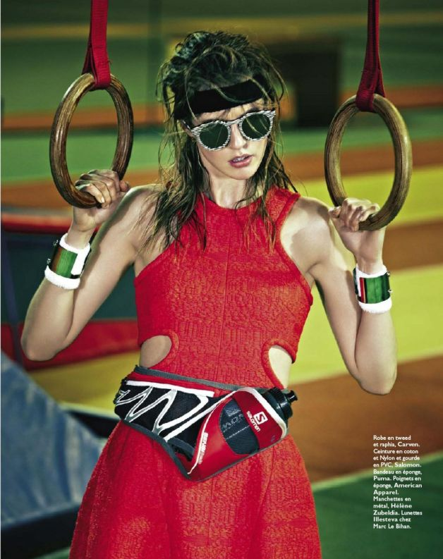 MARATHON WOMAN: JULIA FRAUCHE BY JAMES MACARI FOR GRAZIA FRANCE 1ST MARCH 2013
