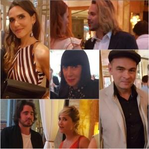 Palm Springs @ Prince de Galles Paris : Joyce Jonathan, Elodie Frégé et Jean-Baptiste Shelmerdine, Chantal Thomass, Clovis Cornillac, Bérangère Krief