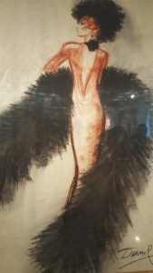 Dessin Jacques Darnel pour Christian Dior