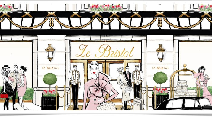 Hôtel le Bristol Paris by Megan Hess