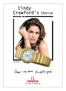 Cindy Crawford pour Omega