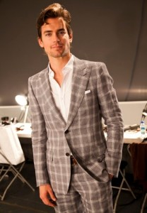 Matt Bomer at the Simon Spurr spring/summer 2011 collection photo STARWORKS on FDM www.fashiondailymag.com by Brigitte Segura