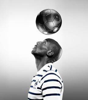 nike x colette nike away project photo of alou diarra by karl lagerfeld on FDM