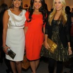 Anisha Lakani + Gigi Stone + Tinsley Mortimer at STUART WEITZMAN on FashionDailyMag