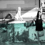 KOVA and T womens casual skinnies + black dress FashionDailyMag loves