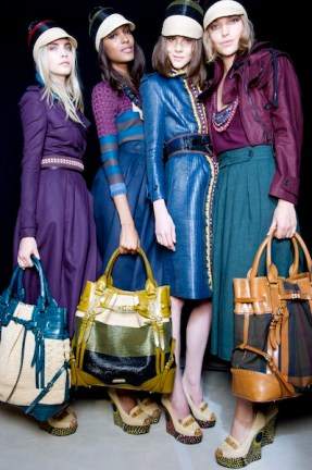 backstage at the burberry prorsum 2012 womenswear show (7) photo burberry FashionDailyMag loves
