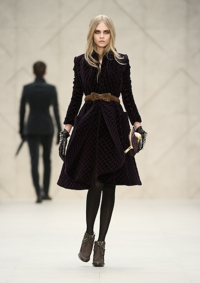 Burberry Prorsum Womenswear Autumn Winter 2012 look 56 sel brigitte segura