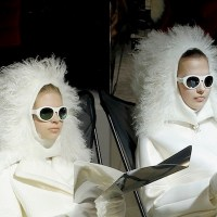 MONCLER gamme rouge and MYKITA paris