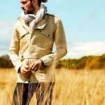 BRITISH ARTIST ROBERT PRATT in BALMAIN safari jacket MrPorter on FashionDailyMag