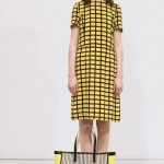 MARNI PRE-ORDER FOULARD yellow checks BRIAN REA fall 2012 FashionDailyMag