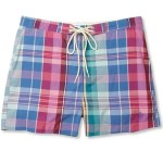 GANT RUGGER madras pattern swim shorts