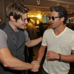 John Varvatos Event 2012 Josh Henderson and Patrick Dempsey FashionDailyMag Selects 2