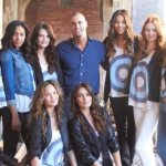 nigel barker and models for CFDA nine west runway relief on FashionDailyMag