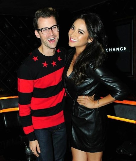 BRAD GORESKI and Shay Mitchell in A|X at madonna concert oct 10