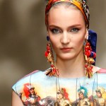 zusana at DOLCE &amp; GABBANA close up