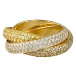 CARTIER TRINITY RING white gold holiday FashionDailyMag