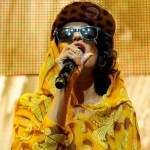 Singer M.I.A. performs | Smart forjeremy Showcar By Jeremy Scott