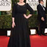 adele in burberry at 70th Annual Golden Globe Awards - Arrivals
