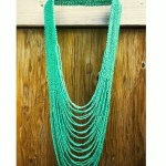 ann and arayata beaded green necklace | FashionDailyMag