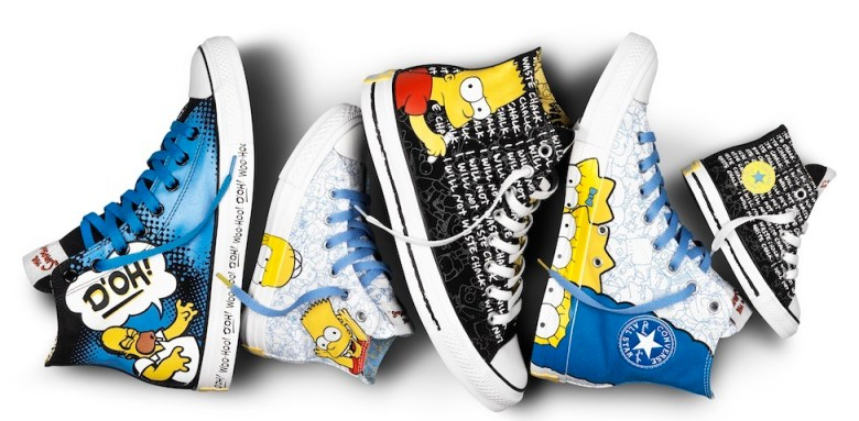 The Simpsons converse collab