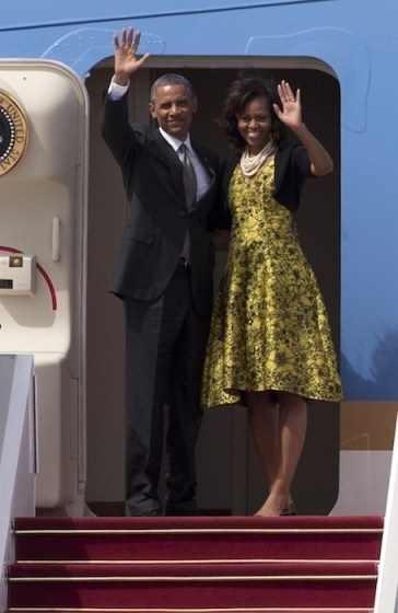 michelle obama wears lela rose | fashiondailymag